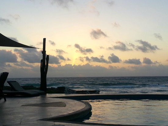 """Playa La Media Luna Hotel: Early morning view from """"our beach"""""""