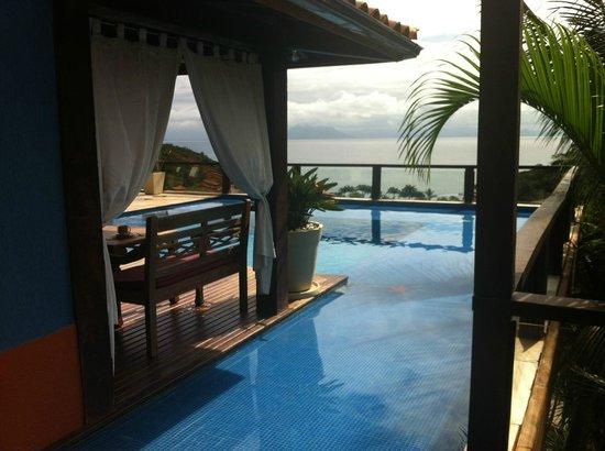 لا بيدريرا سمول هوتل آند سبا: Uma das piscinas da pousada