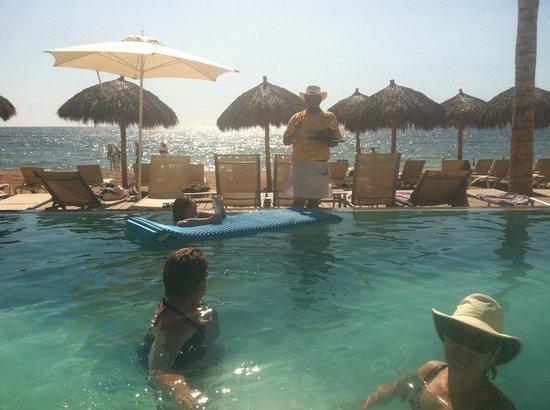 "Secrets Vallarta Bay Puerto Vallarta: Getting Served ""The Wilson"" Birthday Drink to celebrate at the Pool"