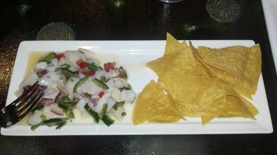 Harry's Seafood Grill: Scallop and poblano ceviche at Harry's