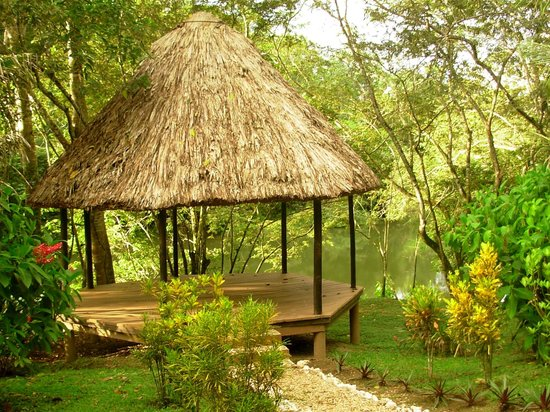 Table Rock Jungle Lodge: the hammock area by the river...so nice to read by