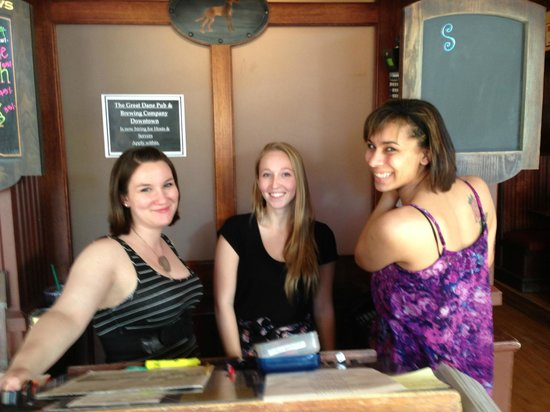 The Great Dane Pub & Brewing Co.: Smiling Staff greet you
