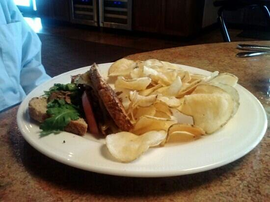 The Bridgewater Grill : roast beef sandwich homemade chips