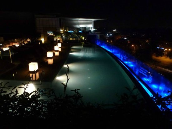 Pool at night picture of jw marriott hotel chandigarh - Chandigarh hotel with swimming pool ...