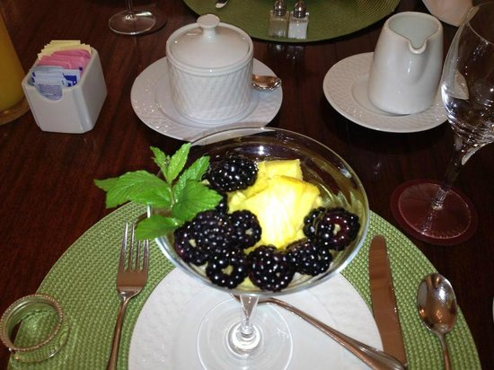 Catherine Ward House Inn: Fresh fruit was served every morning with breakfast