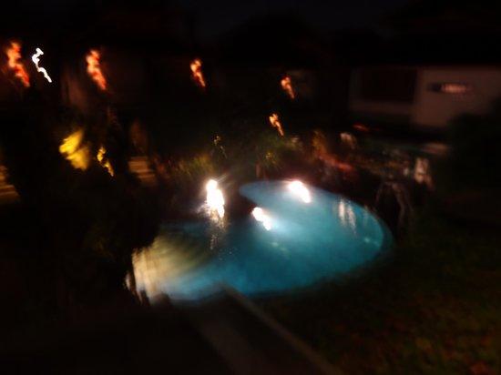 Annora Villas Seminyak: night view from room