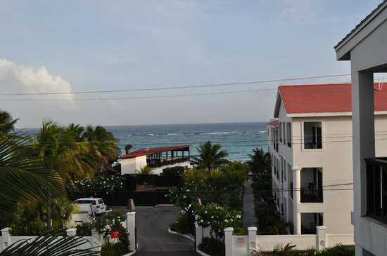 Silver Point Hotel: View from our top floor ocean view suite
