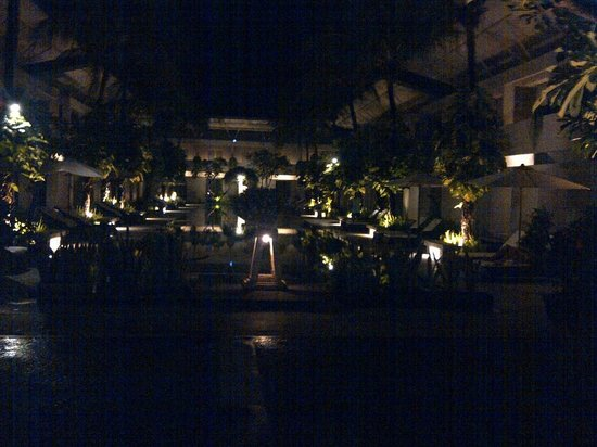 The Oasis Kuta: night view from the restaurant