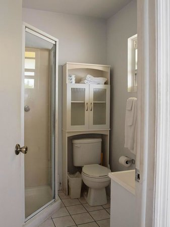 Harbour View Apartments and Studios: Deluxe Studio No. 10 (bathroom)