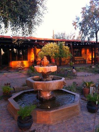 Hacienda Linda's gorgeous front patio