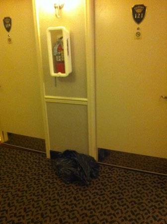 Best Western Heritage Inn: bag of garbage