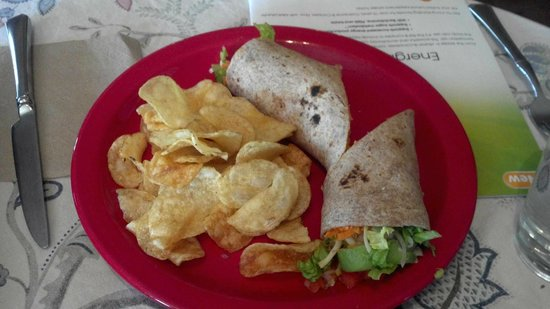 Amelia's Garden Green Grocer and Organic Cafe: filling vegetarian wrap