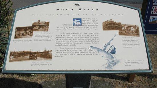 Hood River interpretive sign