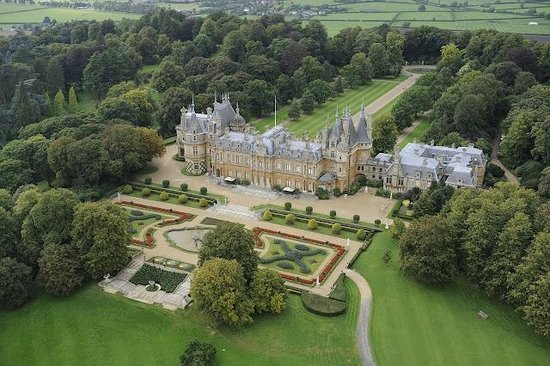 Waddesdon, UK: Aerial View of the Manor