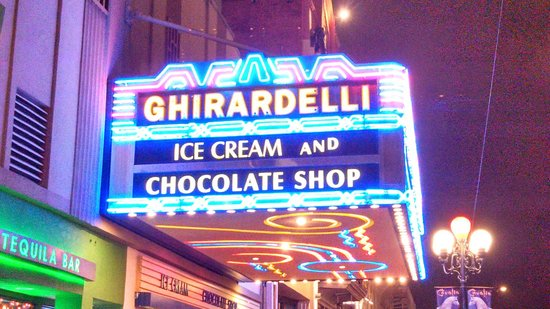 Ghirardelli Ice Cream & Chocolate Shop: store sign