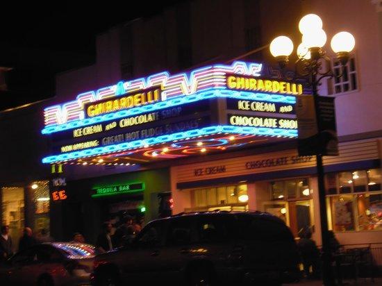 Ghirardelli Ice Cream & Chocolate Shop : store sign