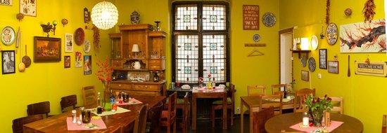 Salut Mediterranean Food: Seating area