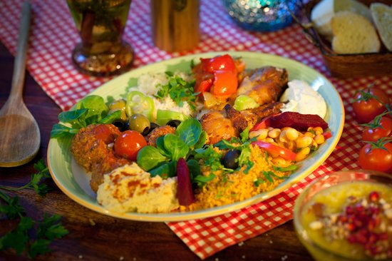 Salut Mediterranean Food: Mediterranean platter from the buffet