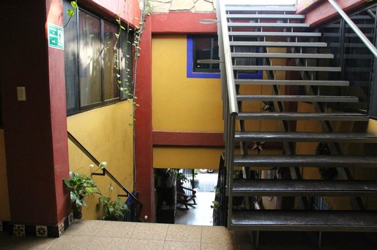 El Quijote: Stairs to the roof terrace