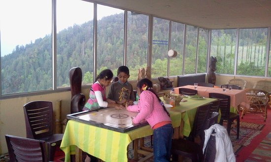 Devi Darshan Lodge: Playing caram with Auli friends at Devi Darshan lounge
