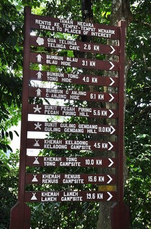 Mutiara Taman Negara: Directions to the places of interest