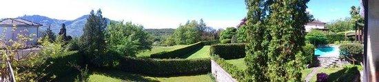 Sight in the garden of Villa Capriasca Tesserte