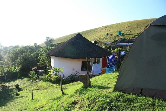 Jah Drums: Our view from outside our tent