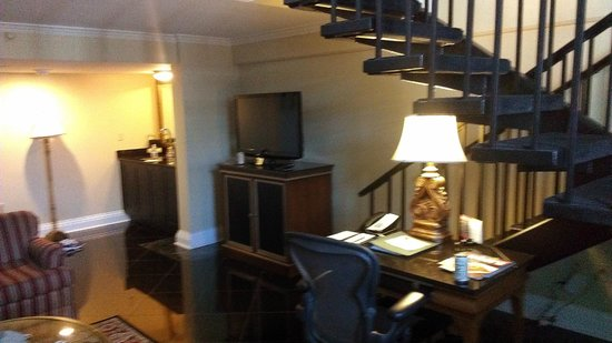 Bourbon Orleans Hotel : desk and stairs