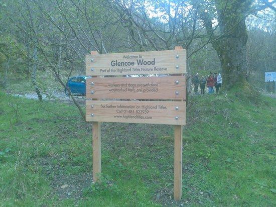 Duror, UK: Entrée de la réserve