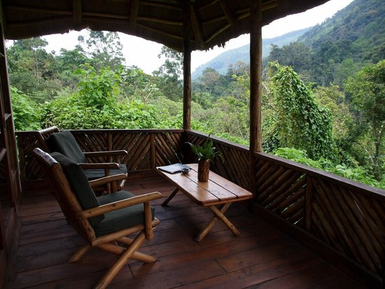 Bwindi Lodge: Private terrace overlooking Bwindi NP