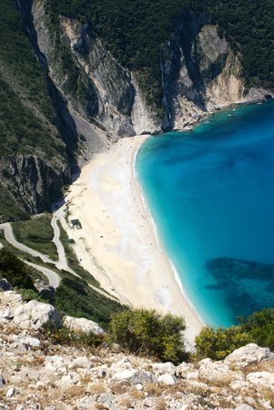 The Magnolia Resort: Myrtos beach from the road above