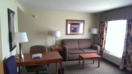 Hampton Inn & Suites Grand Rapids Airport / 28th St: Sitting Area - King Suite