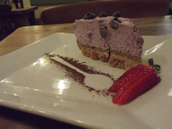 Aragons Restaurant: Homemade cheesecake off the Day