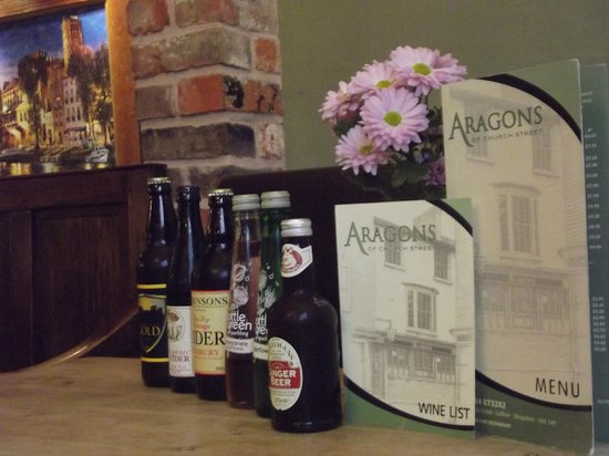 Aragons Restaurant: Available Drinks
