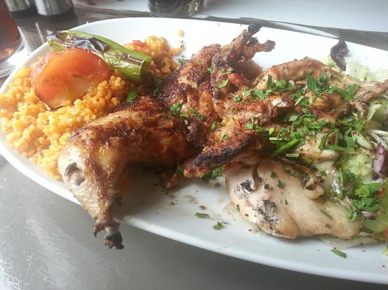 ADA-Turkish Barbeque & Meze Bar: Poussin - cooked in front of me - delicious...