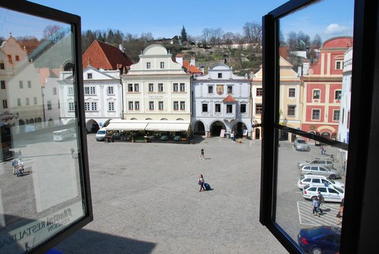 Hotel Grand: view of old town square from hotel room