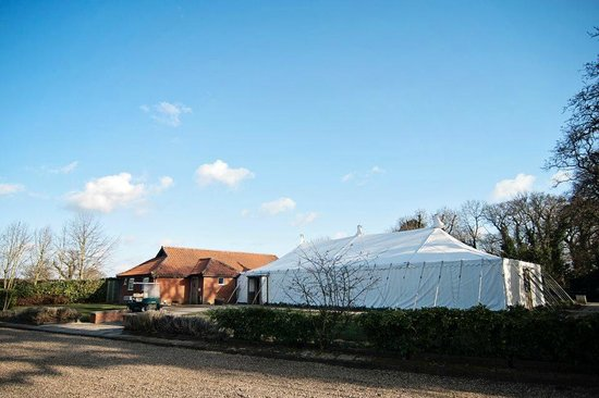 Caldecott Hotel: The large marquee for weddings and other events