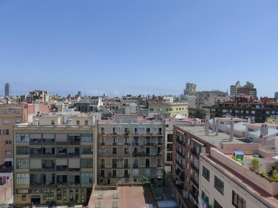 barcelona from our patio picture of grupotel gran via 678 barcelona tripadvisor. Black Bedroom Furniture Sets. Home Design Ideas