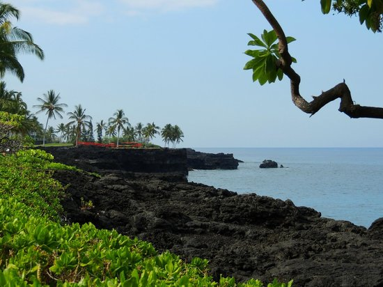 Sheraton Kona Resort & Spa at Keauhou Bay: Strandpromenade