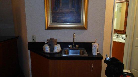 Hampton Inn & Suites Salt Lake City Airport: Bar sink