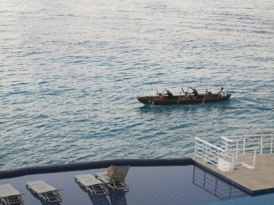 Cozumel's Condominios Marazul: Sit on the balcony and watch the world row by