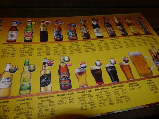 The Kebun Residences : Beers on offer at Porkies which is close by