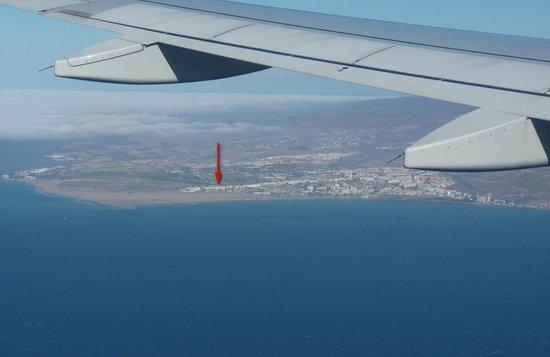 IFA Catarina Hotel: Vue d'avion à notre arrivée