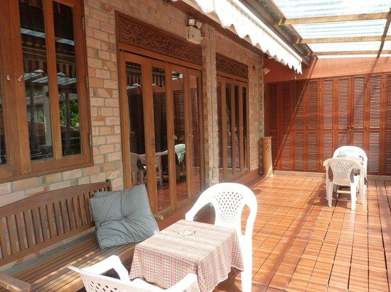 Seapines Villa Liberg: terrasse de nos 2 chambres communicantes