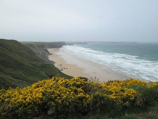 Bre Pen Farm B&B : Atlantic ocean view