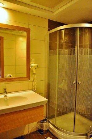 Berksoy Hotel: Bathroom at room no 109
