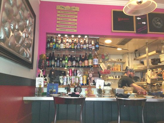 Cafe Miranda : Sit at the counter and watch the Chef at work