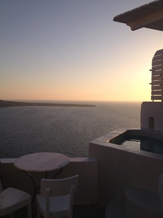 Spitia Houses: sunset view from balcony