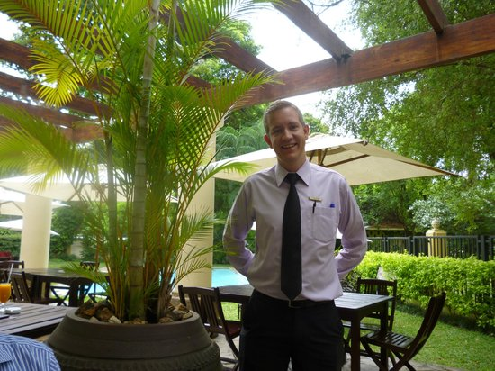 Southern Sun Dar es Salaam: Tyrone the very efficient and welcoming dining room manager.