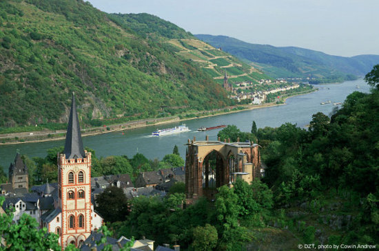 Almanya: Bacharch: Middle Rhine Valley